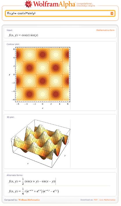 WolframAlpha - Example