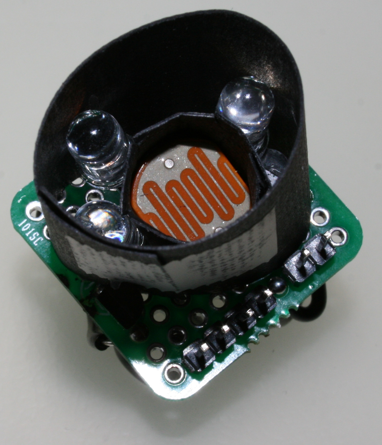Color Sensor With Arduino Dr Ivans Blog The We Will Use In This Circuit Is A Tcs3200 Fully Assembled Showing Main Components Behind Cardboard